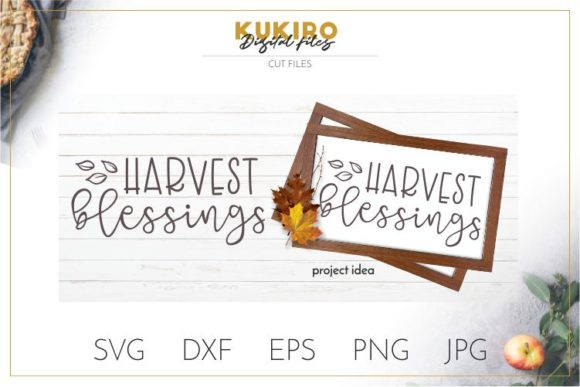 Download Free Harvest Blessings Graphic By Kukiro Creative Fabrica for Cricut Explore, Silhouette and other cutting machines.