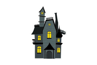 Haunted House - Halloween Halloween Craft Cut File By Creative Fabrica Crafts