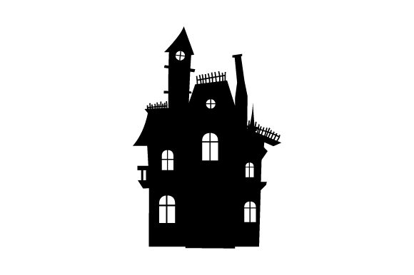 Haunted House Halloween Svg Cut File By Creative Fabrica