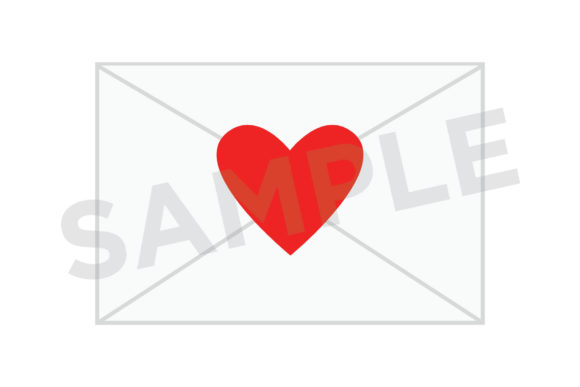 Print on Demand: Heart Envelope Clip Art Set Graphic Objects By Running With Foxes - Image 4
