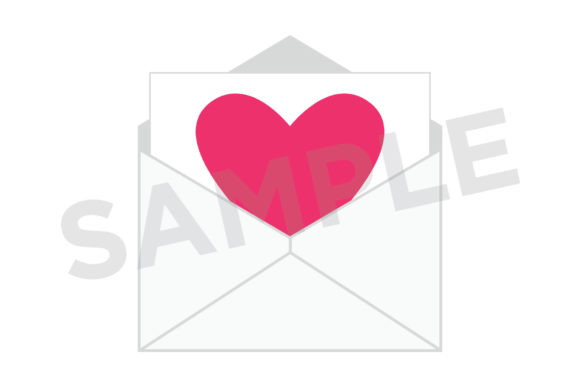 Print on Demand: Heart Envelope Clip Art Set Graphic Objects By Running With Foxes - Image 5