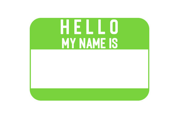 Download Free Hello My Name Is Sticker Svg Cut File By Creative Fabrica for Cricut Explore, Silhouette and other cutting machines.