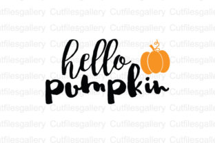 Download Free Hello Pumpkin Graphic By Cutfilesgallery Creative Fabrica for Cricut Explore, Silhouette and other cutting machines.