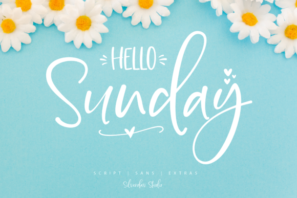 Print on Demand: Hello Sunday Script & Handwritten Font By silverdav - Image 1