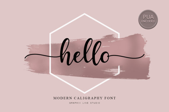 Print on Demand: Hello Script & Handwritten Font By Graphix Line Studio