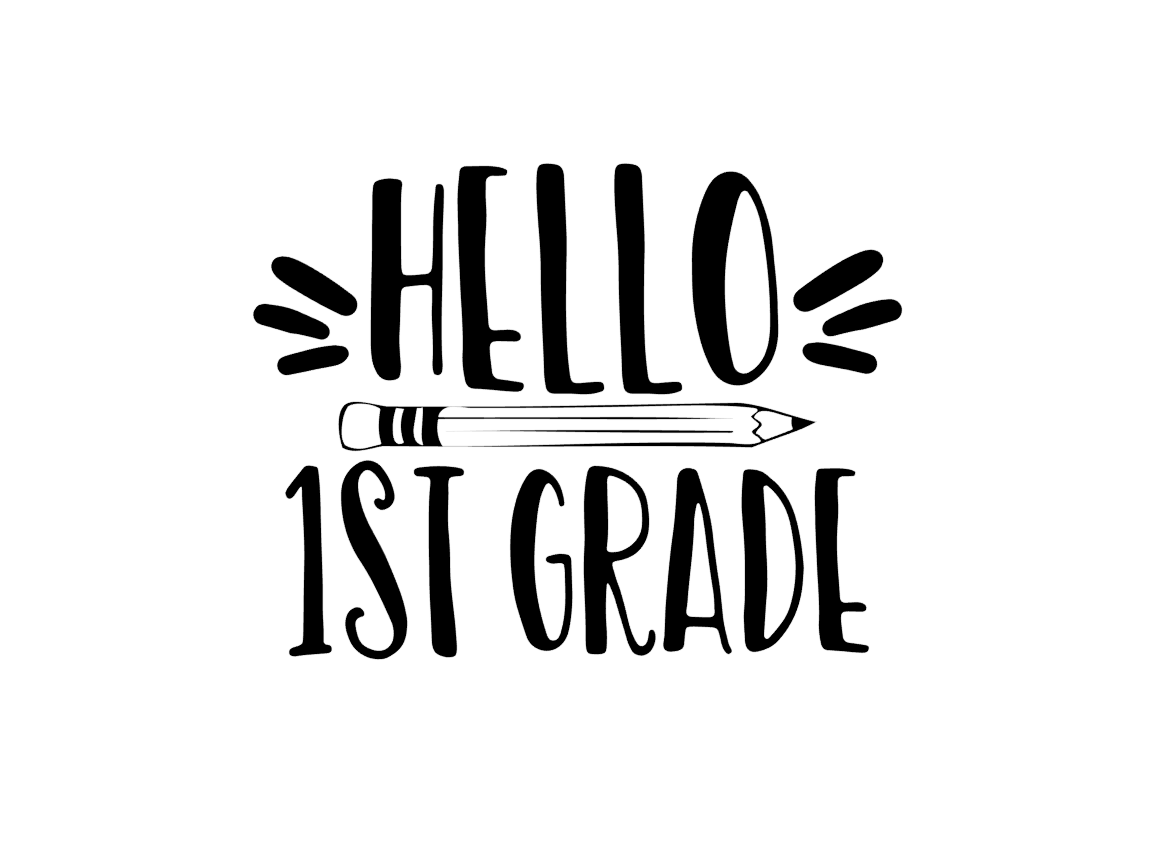 Hello First Grade (Graphic) by TheSmallHouseShop · Creative Fabrica