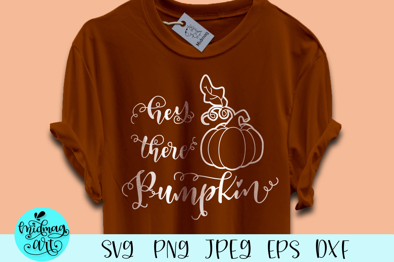 Download Free Hey There Pumpkin Graphic By Midmagart Creative Fabrica for Cricut Explore, Silhouette and other cutting machines.