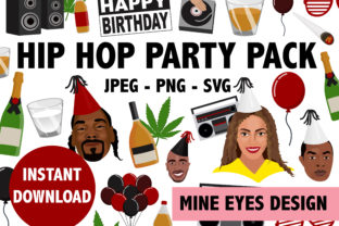Hip Hop Party Icon Collection Graphic By Mine Eyes Design