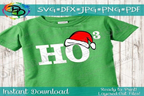 Download Free Ho3 Ho Ho Ho Svg Santa Hat Svg Christ Graphic By for Cricut Explore, Silhouette and other cutting machines.