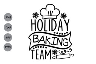 Download Free Holiday Baking Team Graphic By Cosmosfineart Creative Fabrica for Cricut Explore, Silhouette and other cutting machines.