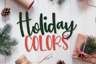 Holiday Colors Font By Justina Tracy
