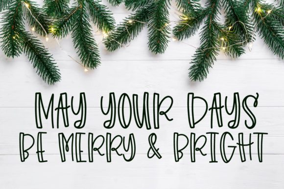 Holiday Colors Font By Justina Tracy Image 5