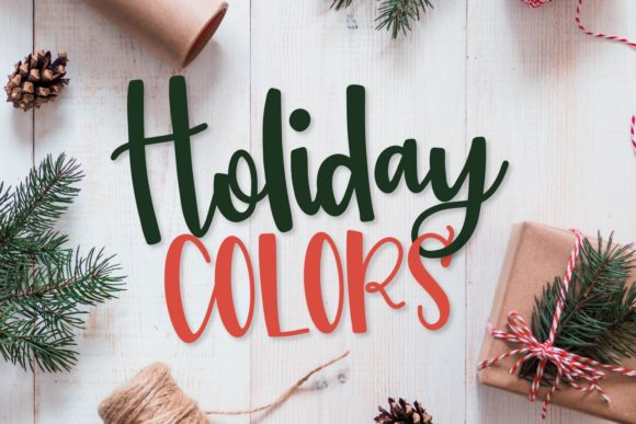 Print on Demand: Holiday Colors Display Font By Justina Tracy