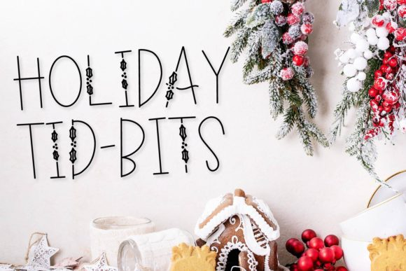 Print on Demand: Holiday Tidbits Display Font By Justina Tracy
