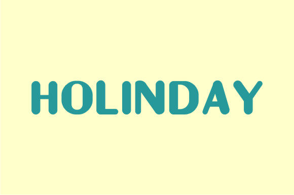 Print on Demand: Holinday Sans Serif Font By hanifarifinsyah - Image 3