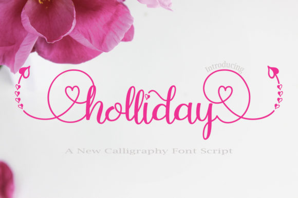 Print on Demand: Holliday Script & Handwritten Font By faisal_Alfaraby