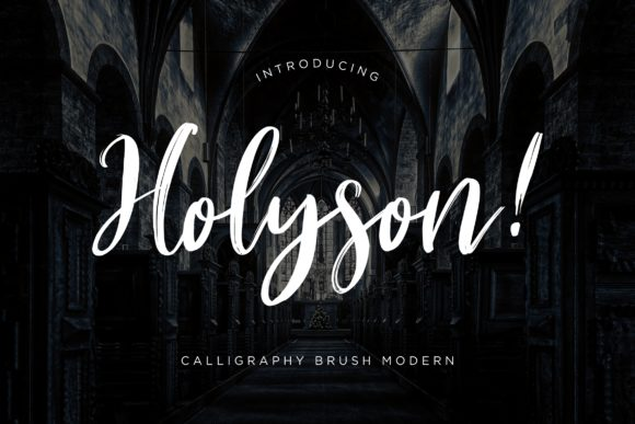 Print on Demand: Holyson Script & Handwritten Font By CreatypeStudio