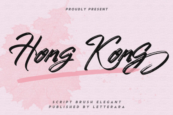 Print on Demand: Hong Kong Script & Handwritten Font By thomasaradea