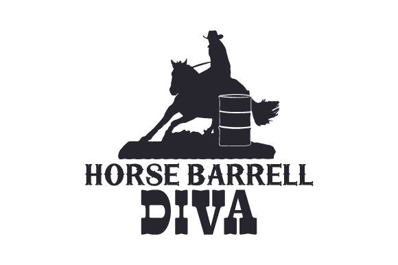 Horse Barrell Diva Horse & Equestrian Craft Cut File By Creative Fabrica Crafts