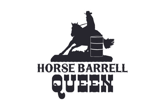 Horse Barrell Queen Horse & Equestrian Craft Cut File By Creative Fabrica Crafts