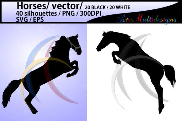 Print on Demand: Horse Silhouette Graphic Illustrations By Arcs Multidesigns - Image 2