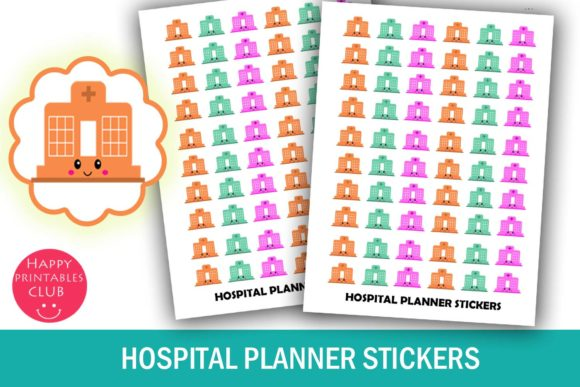 Print on Demand: Hospital Planner Stickers-Doctor Planner Graphic Crafts By Happy Printables Club
