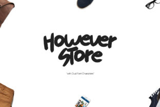 Print on Demand: However Store Display Font By Maulana Creative