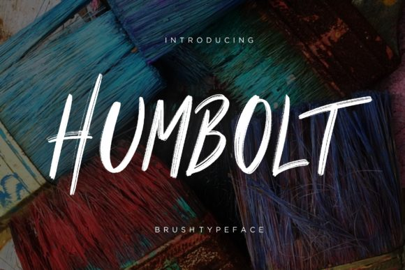 Print on Demand: Humbolt Display Font By CreatypeStudio