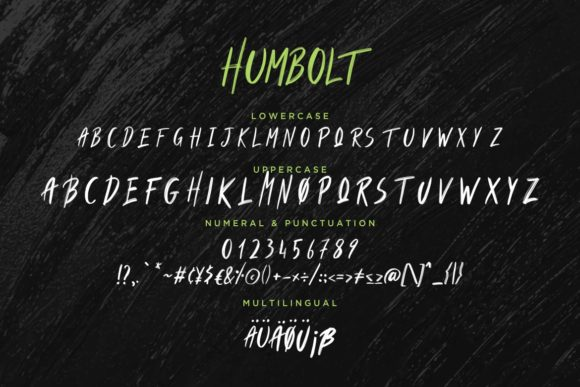Print on Demand: Humbolt Display Font By CreatypeStudio - Image 7