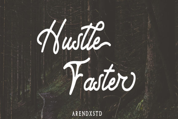 Hustle Faster Display Font By Arendxstudio