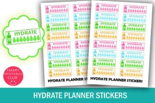 Hydrate Planner Stickers- Hydration Graphic By Happy Printables Club