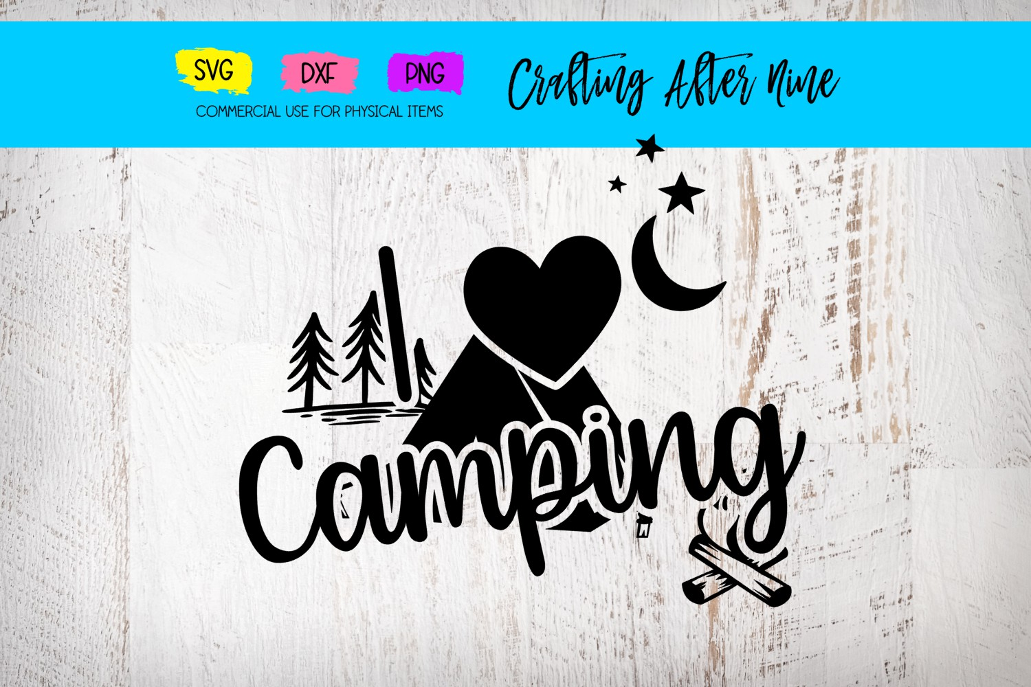 Download Free I Love Camping Graphic By Crafting After Nine Creative Fabrica for Cricut Explore, Silhouette and other cutting machines.