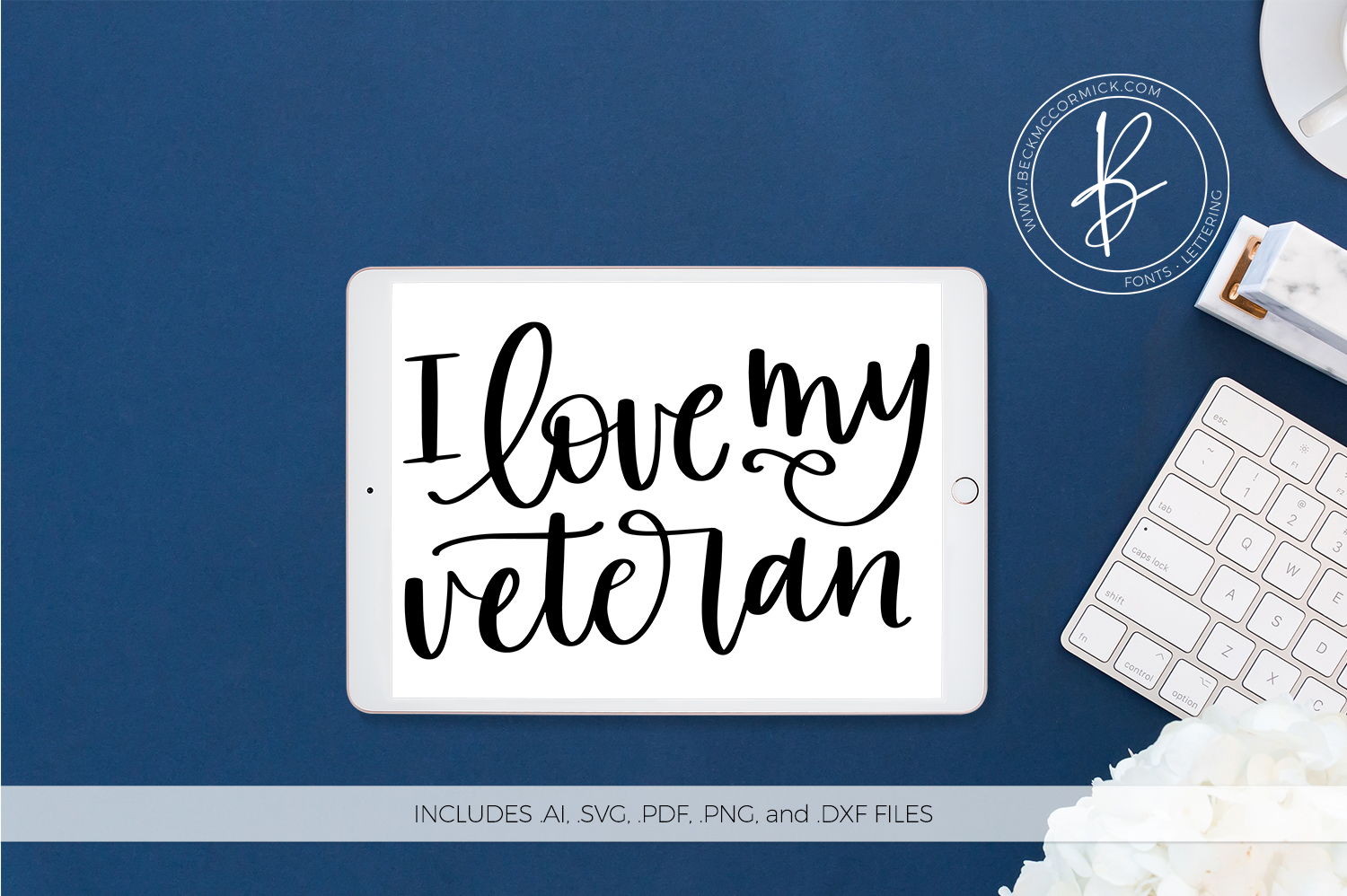 Download Free I Love My Veteran Graphic By Beckmccormick Creative Fabrica for Cricut Explore, Silhouette and other cutting machines.
