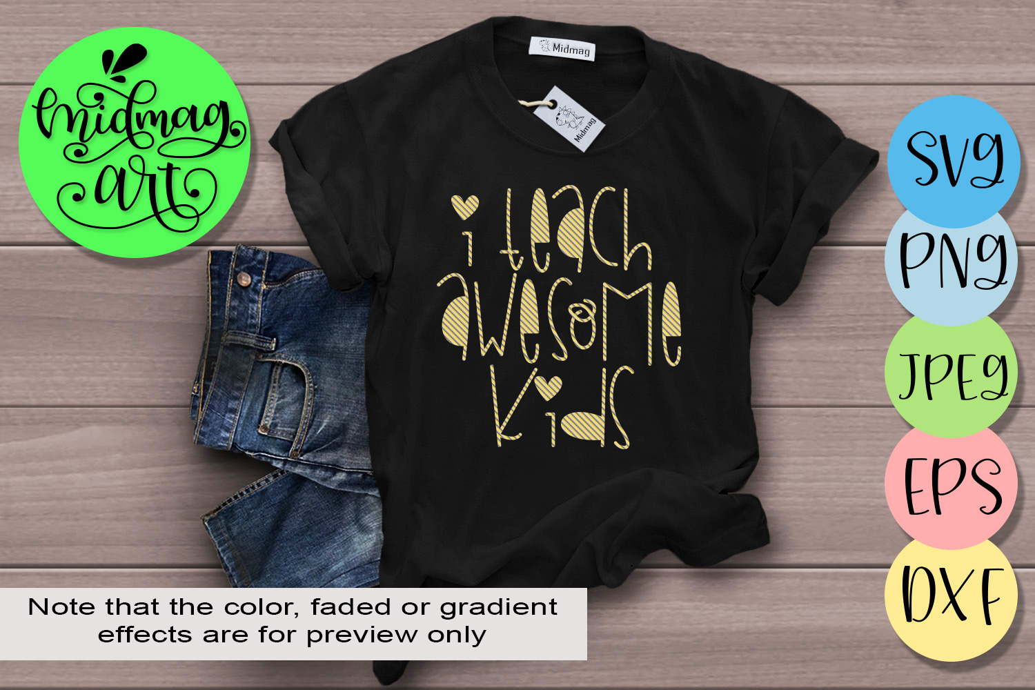 Download Free I Teach Awesome Kids Graphic By Midmagart Creative Fabrica for Cricut Explore, Silhouette and other cutting machines.