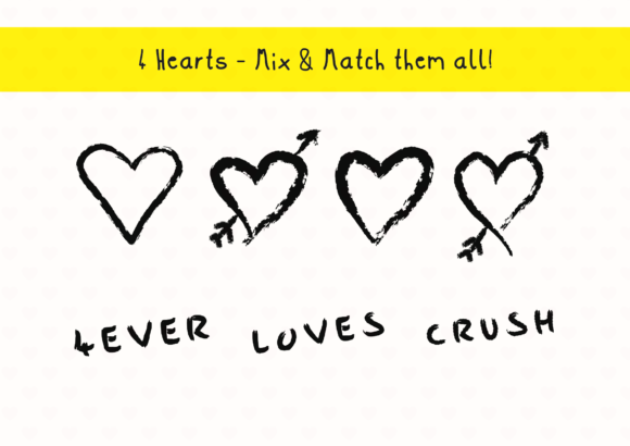 Print on Demand: IHeart Pack Graphic Crafts By GraphicsBam Fonts - Image 2
