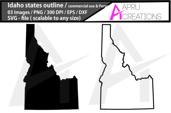 Download Free 1 Idaho Map Clipart Designs Graphics for Cricut Explore, Silhouette and other cutting machines.