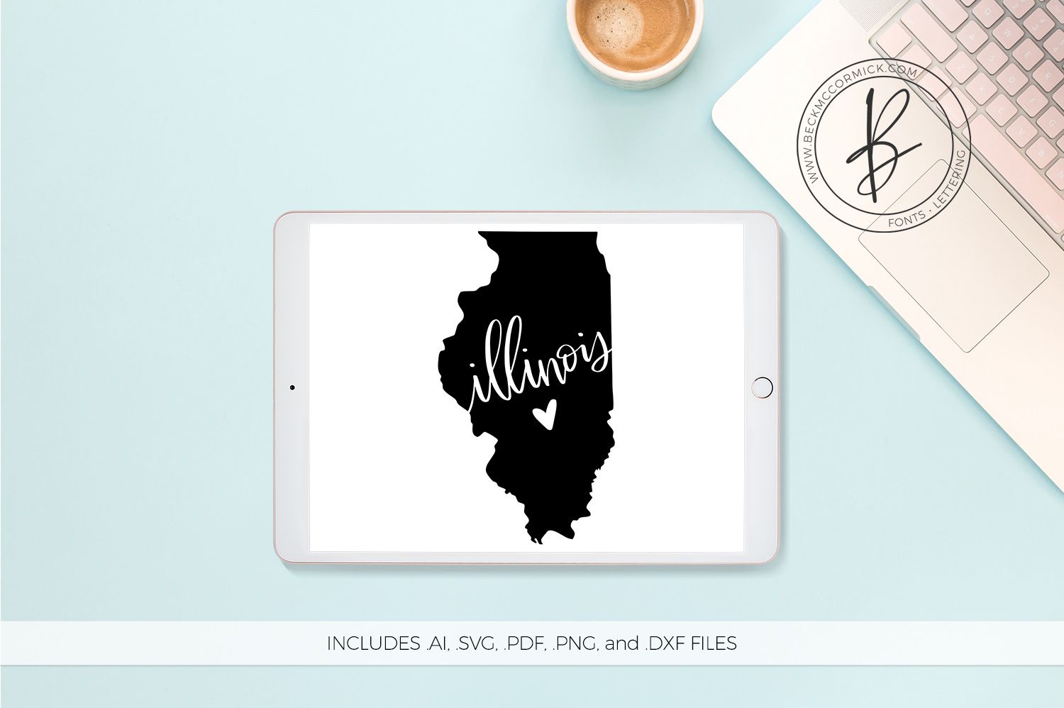 Download Free Illinois Heart Graphic By Beckmccormick Creative Fabrica for Cricut Explore, Silhouette and other cutting machines.