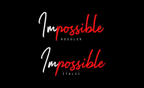 Print on Demand: Impossible Script & Handwritten Font By Ghuroba Studio - Image 2