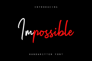 Impossible Font By Ghuroba Studio