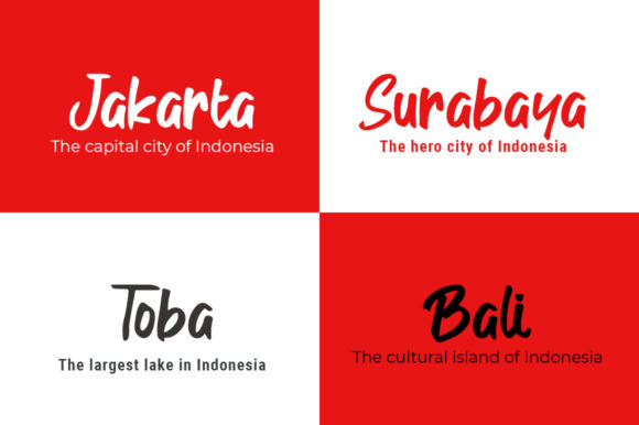 Download Free Indonesia Merdeka Font By Madatype Studio Creative Fabrica for Cricut Explore, Silhouette and other cutting machines.