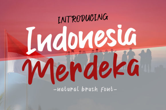 Print on Demand: Indonesia Merdeka Display Font By Madatype Studio