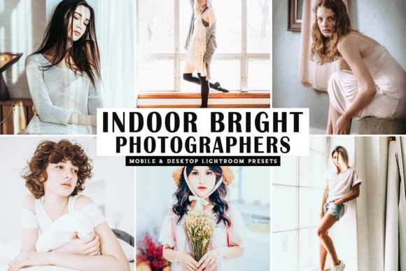 Print on Demand: Indoor Bright Lightroom Presets Grafik Aktionen & Voreinstellungen von Creative Tacos