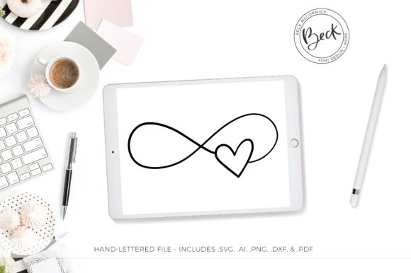 Download Free Infinity Heart Graphic By Beckmccormick Creative Fabrica for Cricut Explore, Silhouette and other cutting machines.