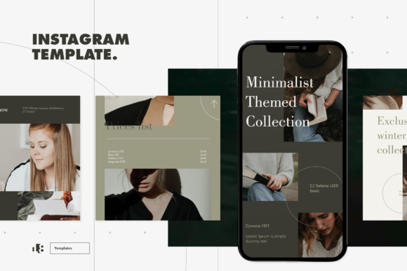 Print on Demand: Instagram Template Graphic Graphic Templates By ovoz.graphics