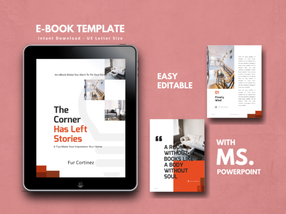 Interior EBook Template PowerPoint Graphic By rivatxfz