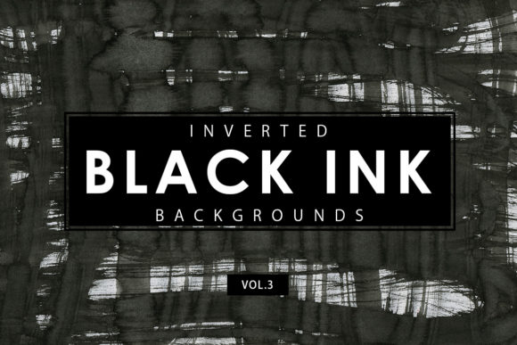 Print on Demand: Inverted Black Ink Backgrounds 3 Graphic Backgrounds By ArtistMef