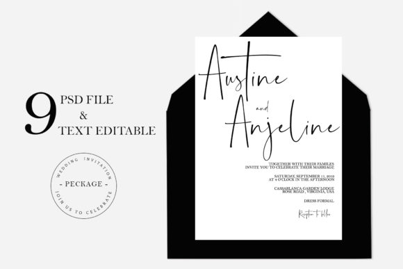 Invitation Wedding Template Graphic Graphic Templates By VavadHarahap