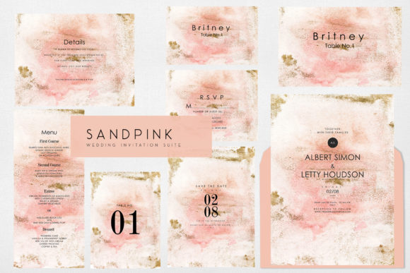 Invitation Sandpink Graphic Graphic Templates By OMvavadharahap