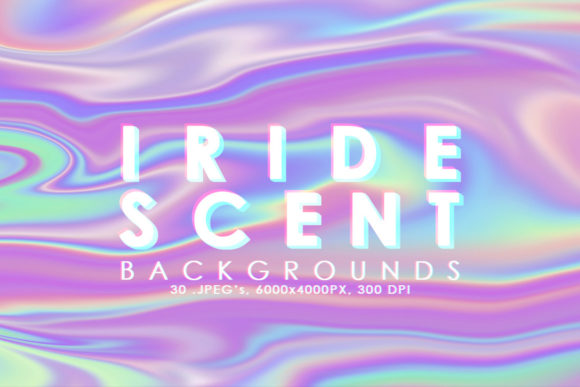 Print on Demand: Iridescent Abstract Backgrounds Graphic Backgrounds By ArtistMef