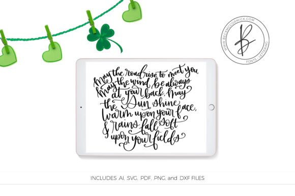 Download Free Irish Blessing Graphic By Beckmccormick Creative Fabrica for Cricut Explore, Silhouette and other cutting machines.